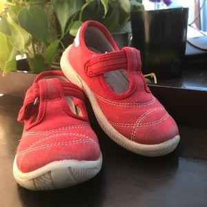 {Naturino} Red Canvas T-Strap Sandals